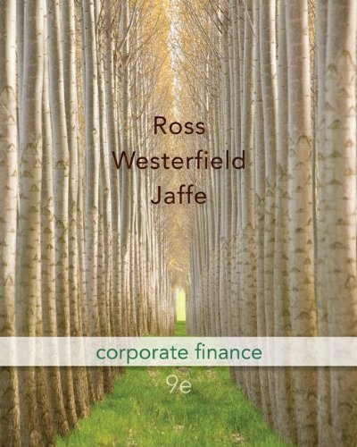 corporate finance ross westerfield and jaffe 9th edition Free essay: case solutions fundamentals of corporate finance ross, westerfield, and jordan 9th edition chapter 1 the mcgee cake company 1 the advantages to.