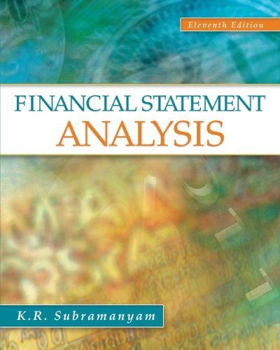 financial statement analysis 10th edition solution Solutions manual~9th edition part1  common size financial statements express all balance sheet accounts as a percentage of total assets and all income statement.